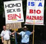 anti-gay protestors