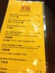 Tsim Chai kee menu